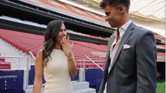 Marcos Llorente a demandé sa compagne en mariage au Wanda Metropolitano.