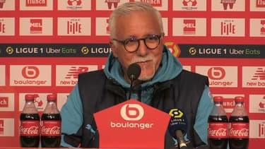 L'entraîneur intérimaire Nasser Larguet, le 3 mars 2021