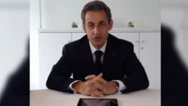 Nicolas Sarkozy lançant les hostilités sur Twitter ce vendredi.