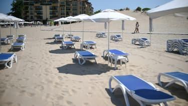 Les plages de sable de la station balnéaire bulgare Sunny Beach, le 16 juillet 2020 (photo d'illustration).