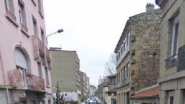 Rue Benoît-Malon à Saint-Etienne