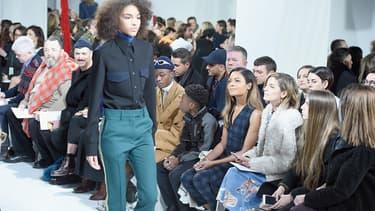 Le défilé Calvin Klein lors de la Fashion Week de New York le 10 février 2017 -