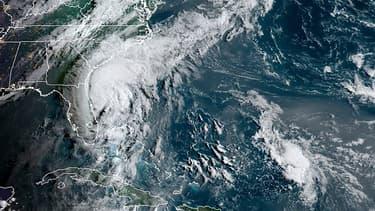 Vue satellite de la côte est des Etats-Unis et de l'océan Atlantique