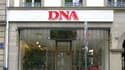 La devanture du journal DNA à Strasbourg.