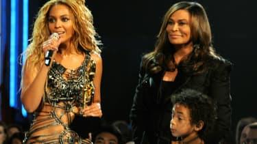 Beyoncé et sa mère, Tina Knowles, en mai 2011