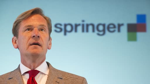 Mathias Doepfner, président de l'éditeur de journaux allemand Axel Springer