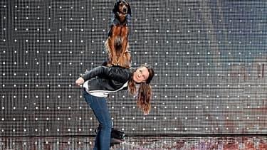 Juliette et son chien Charlie