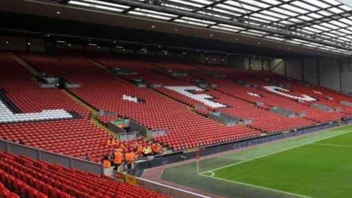 Le stade d'Anfield, à Liverpool, va être agrandi.