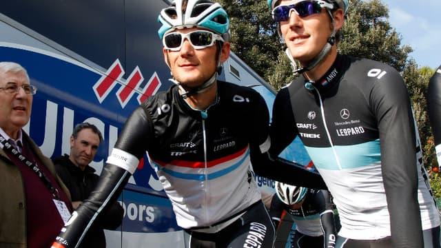 Franck et Andy Schleck
