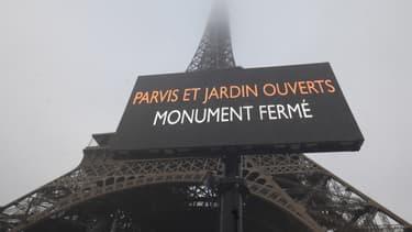 La tour Eiffel ce jeudi 5 décembre