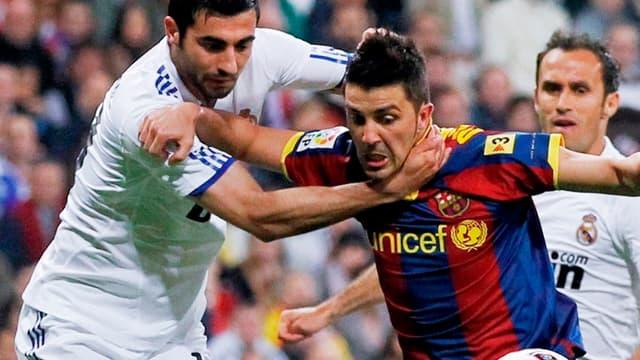 David Villa face à Albiol