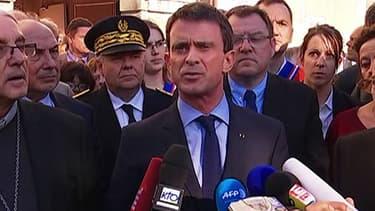 Le Premier ministre Manuel Valls à Villejuif, ce mercredi.
