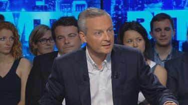 Bruno Le Maire était l'invité d'Apolline de Malherbee sur BFMTV dimanche.