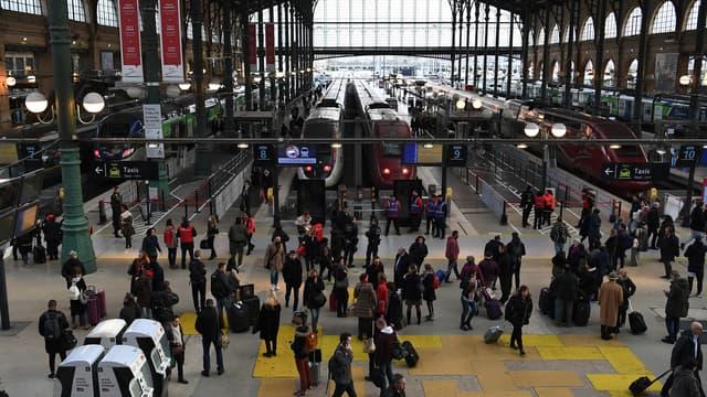 La grève reconductible a été votée par des cheminots de la gare du Nord. (image d'illustration)