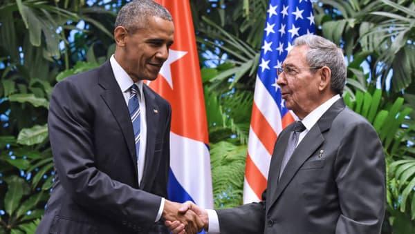 Barack Obama et Raul Castro, le 21 mars 2016, à La Havane.