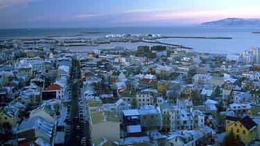 La ville de Reykjavik, capitale de l'Islande