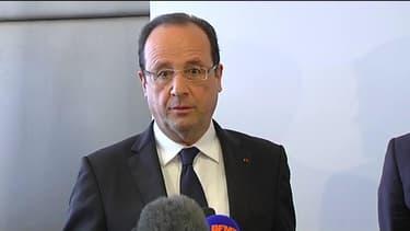 François Hollande  à l'aéroport de Roissy-Charles-de-Gaulle le 18 mars 2013.
