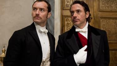 """Robert Downey Jr. et Jude Law dans """"Sherlock Holmes"""""""