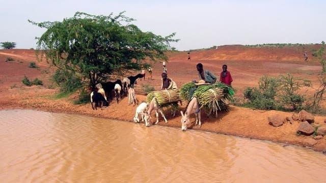 Le choléra se diffuse souvent par les points d'eau.