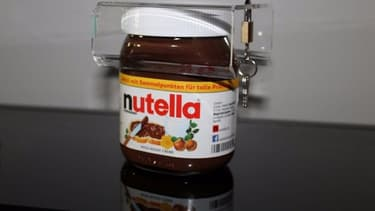 Voici le cadenas à Nutella, fourni avec deux clés sur eBay.