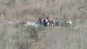 Le site du crash de l'hélicoptère de Kobe Bryant