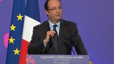François Hollande lors de la conférence sociale de juillet 2013