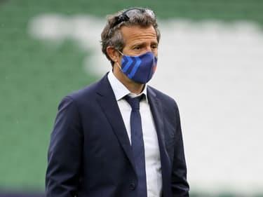 Le sélectionneur du XV de France, Fabien Galthié, avant le match du Tournoi des six Nations face à l'Irlande, à Dublin, le 14 février2021