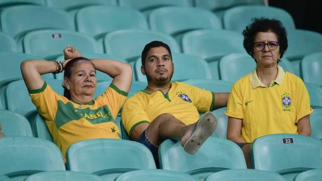 Des supporters du Brésil lors de la Copa America, à Salvador le 18 juin 2019