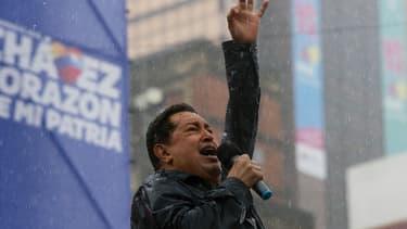 Le président vénézuélien Hugo Chavez lors de la campagne présidentielle de 2012