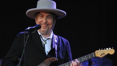 Bob Dylan sur scène aux Vieilles Charrues en 2012