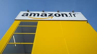 Entrepôt de l'entreprise Amazon en France