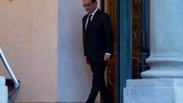 François Hollande sur le perron de l'Elysée