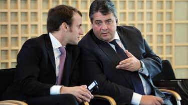 Emmanuel Macron et son homologue allemand Sigmar Gabriel ont pris connaissance du rapport proposant des pistes pour plus de croissance.