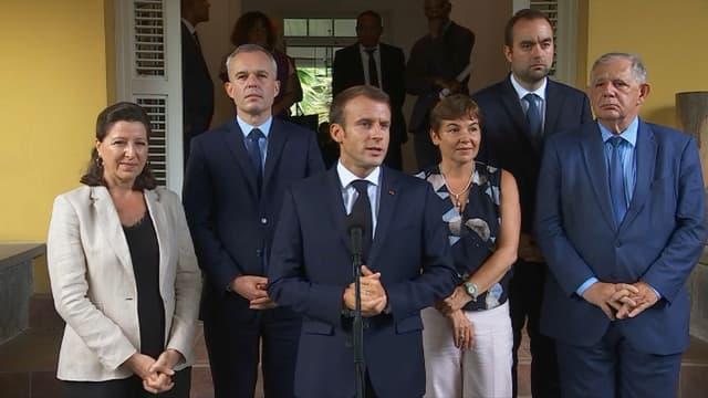 Emmanuel Macron en visite en Martinique ce jeudi.