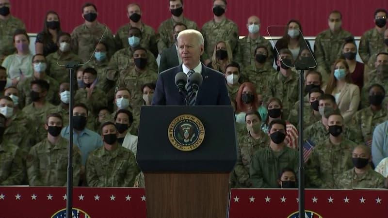"""""""Les États-Unis sont de retour"""": les premiers mots de Joe Biden après son arrivée en Europe"""