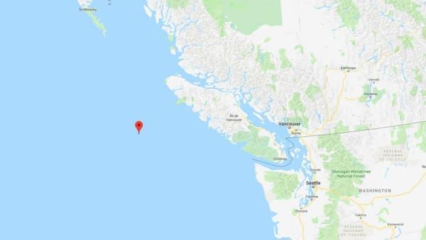 Localisation du premier séisme