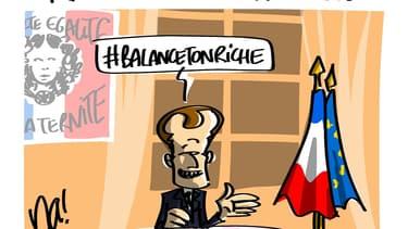 """Emmanuel Macron a tenté de se débarrasser son étiquette de """"président des riches"""""""