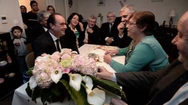 François Hollande chez Lucette Brochet jeudi 29 octobre
