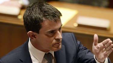 Manuel Valls le 8 avril à l'Assemblée nationale.