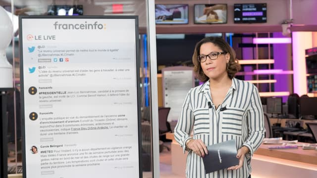 Franceinfo a été lancée le 1er septembre 2016 sur la TNT