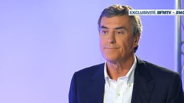Jérôme Cahuzac lors de son interview exclusive sur BFMTV, le 16 avril 2013