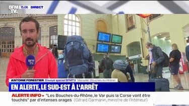 Intempéries: des dizaines de trains supprimés dans les Bouches-du-Rhône