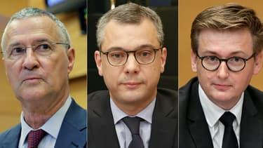 Patrick Strzoda, Alexis Kohler et François-Xavier Lauch.