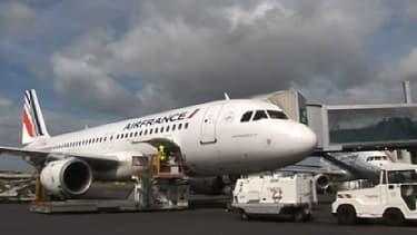 Avion d'Air France sur l'aéroport de Marignane à Marseille.