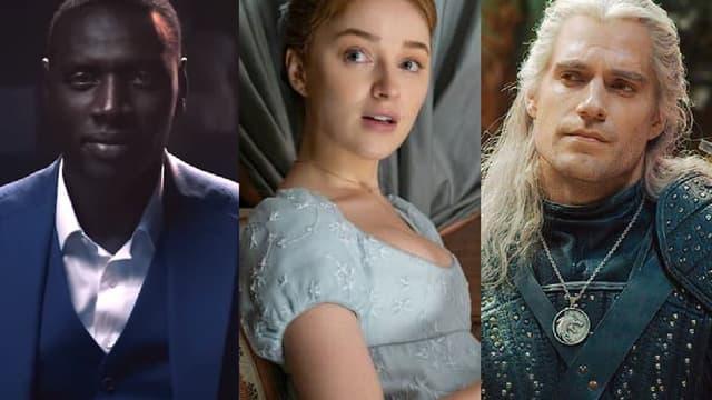 "Omar Sy dans ""Lupin"",  Phoebe Dynevor dans ""Bridgerton"" et Henry Cavill dans ""The Witcher"""