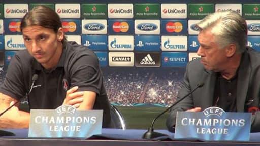 Zlatan Ibrahimovic et Carlo Ancelotti