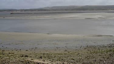Une plage d'Etaples, l'estuaire de la Canche dans le Pas-de-Calais.