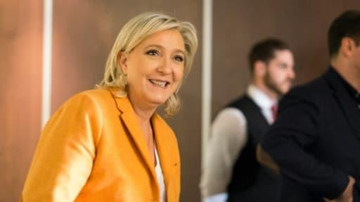 La présidente du FN Marine Le Pen, le 20 mars 2016 à Québec