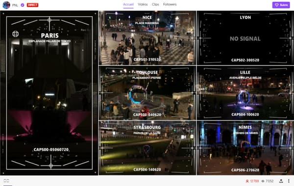 Les dernières images du live de PNL, vers 21h30