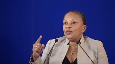 Christiane Taubira s'exprime aux Rencontres internationales des magistrats antiterroristes le 27 avril 2015
